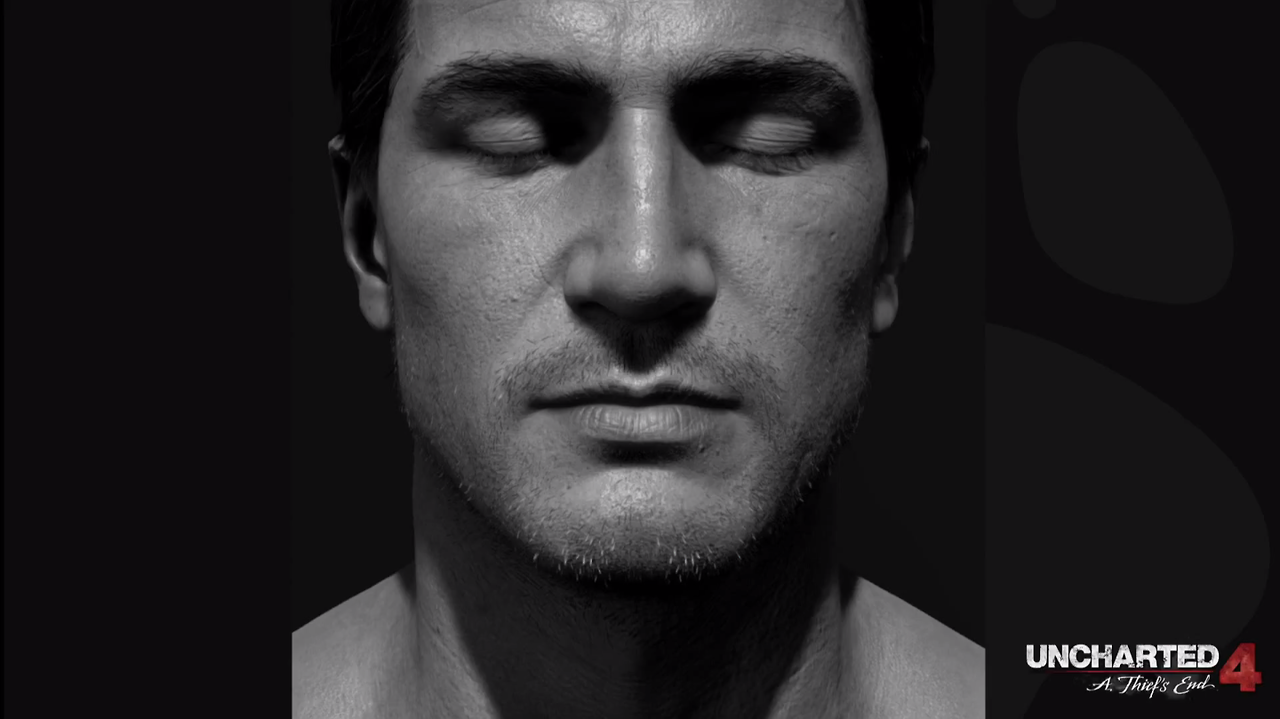 Uncharted 4 ps4 gif showing wind physics effect on drake for The drake