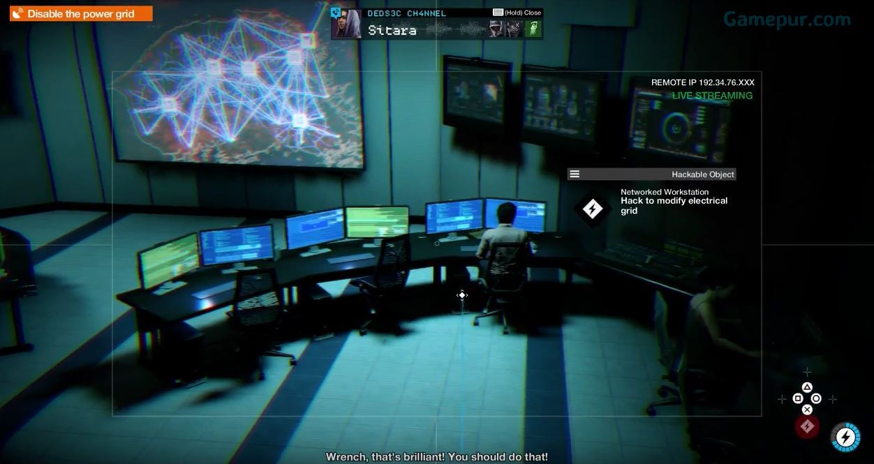 Watch Dogs  Hack Teh World Disable Power Grid