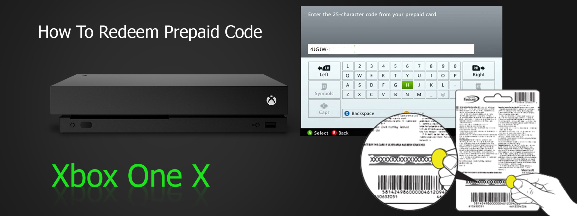 Redeem Prepaid Code On Xbox One X - How  To