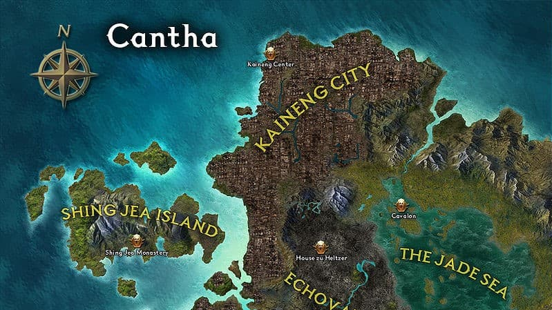 Map of Cantha from GW Factions