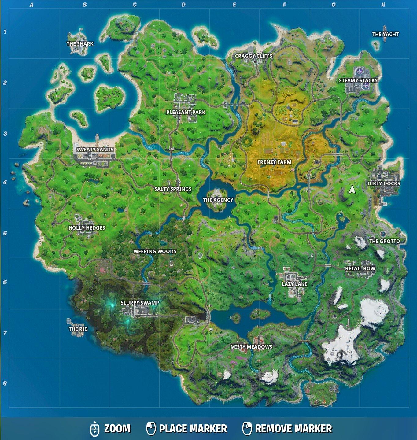Fortnite Named Locations