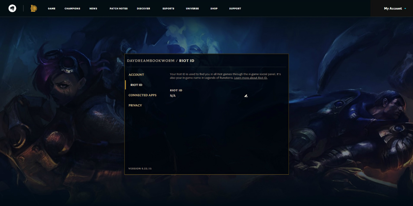 Riot ID Page
