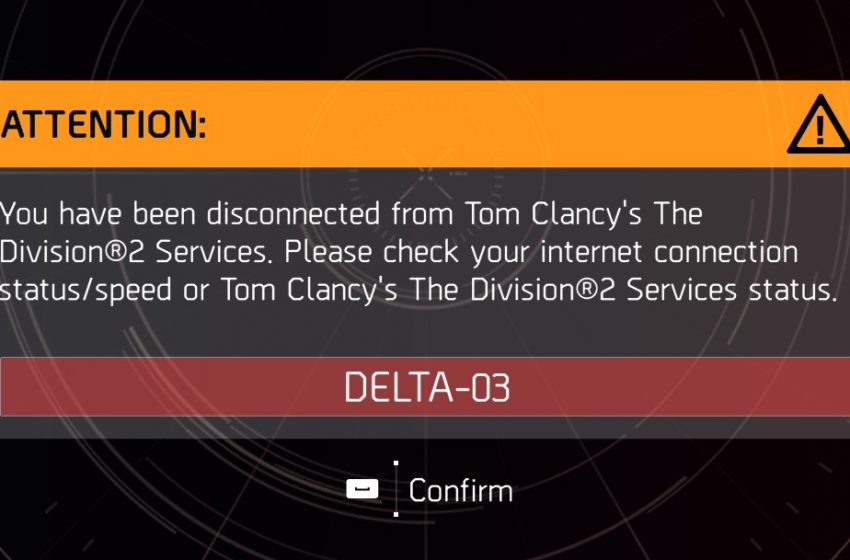 How to fix the Delta-03 error code in The Division 2