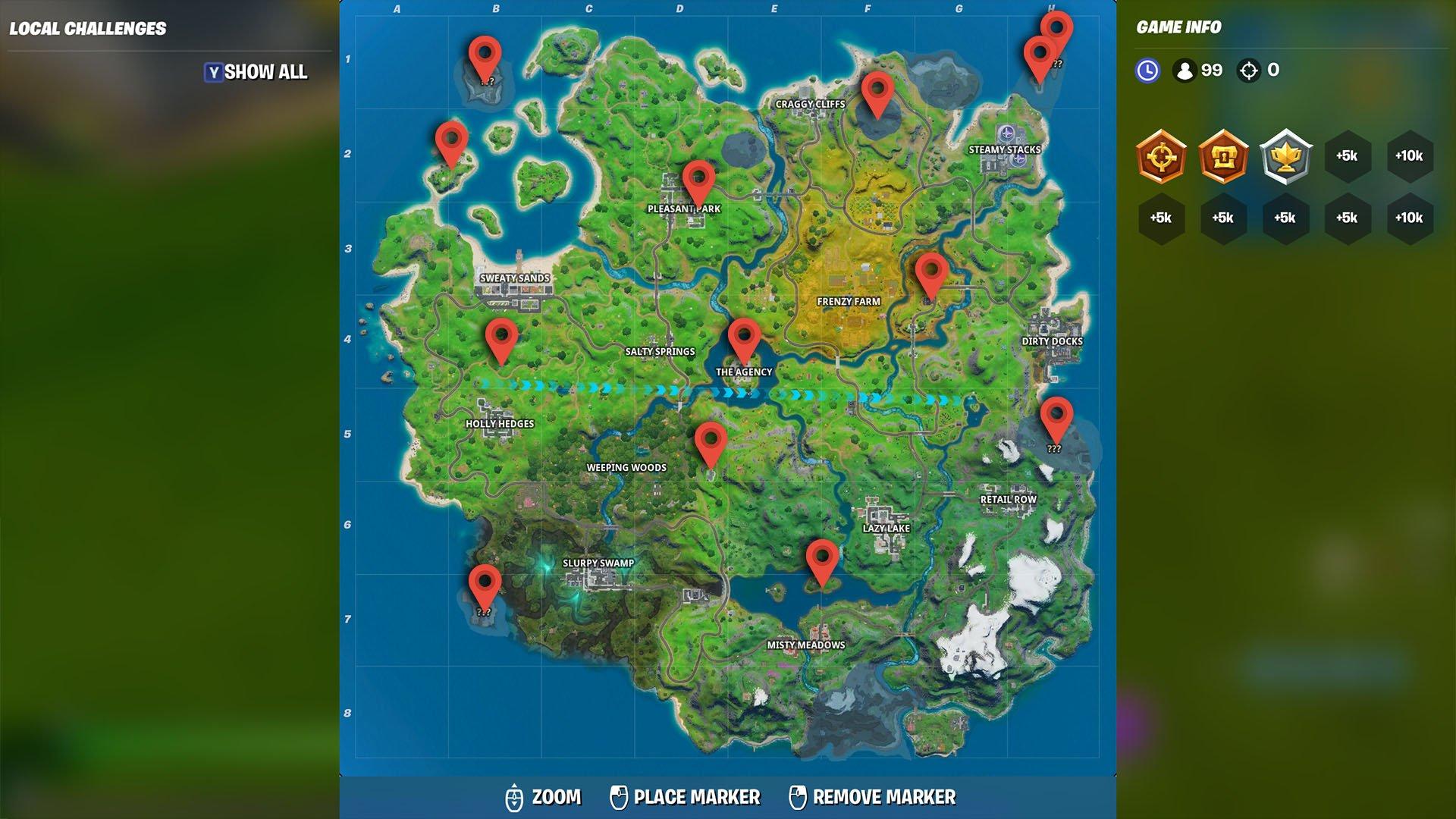Secret Passages Locations Fortnite