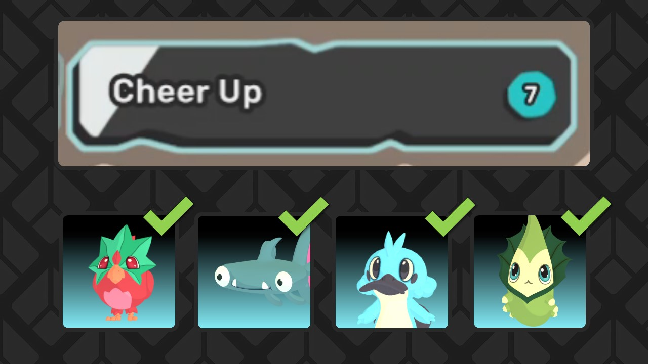 Cheer Up and the temtem that can learn it