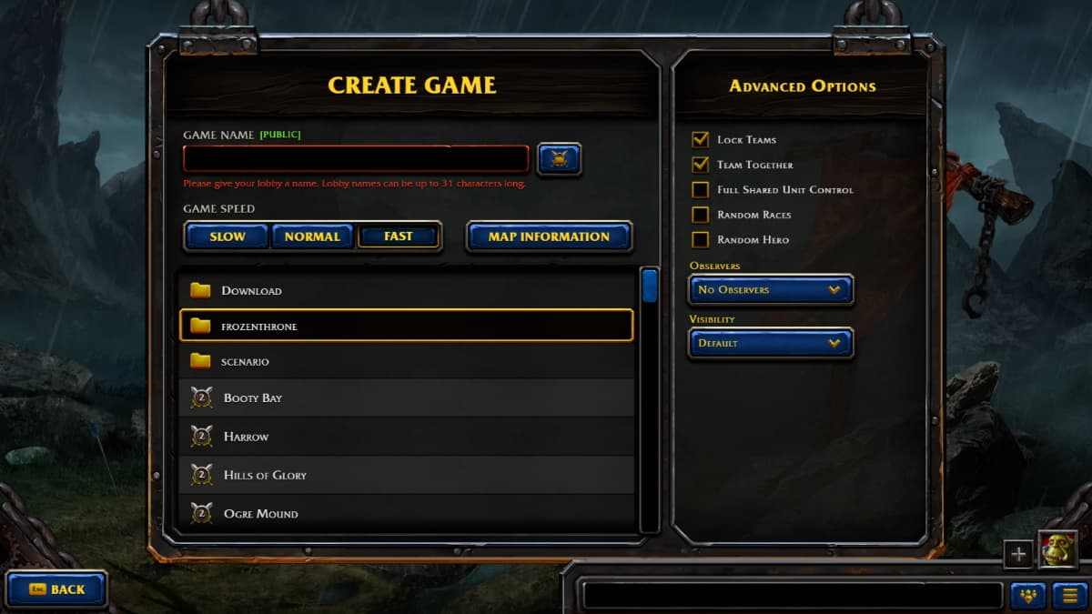 How To Start A Private Game In Warcraft 3 Reforged Gamepur