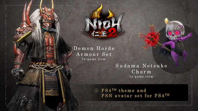Pre-order bonuses for all editions of Nioh 2