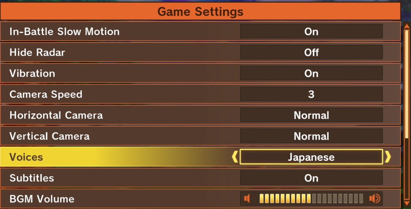 Dragon Ball Z: Kakarot Game Settings