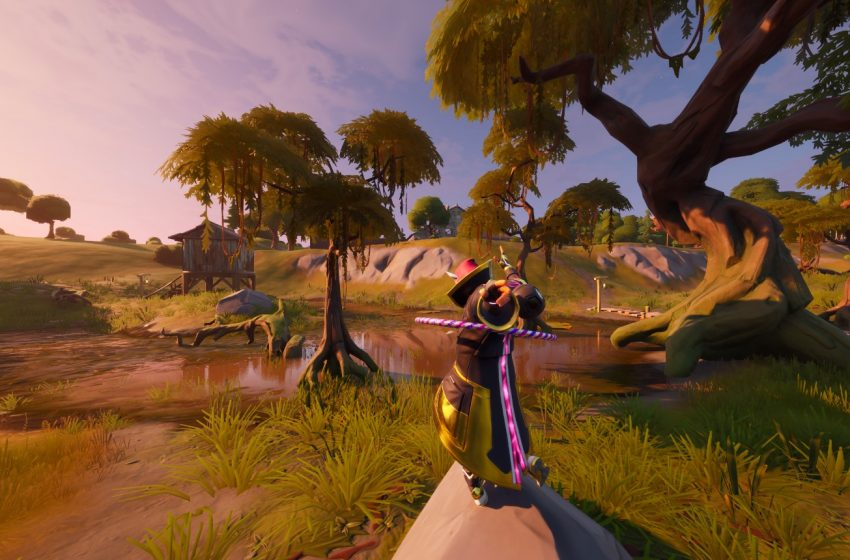 Where to Search the Hidden Gnome Found in Between Logjam Woodworks, a Wooden Shack, and a Buck in Fortnite: Battle Royale