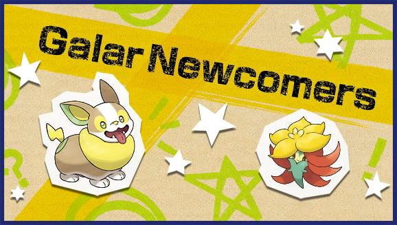 Pokemon Sword and Shield Galar Newcomers