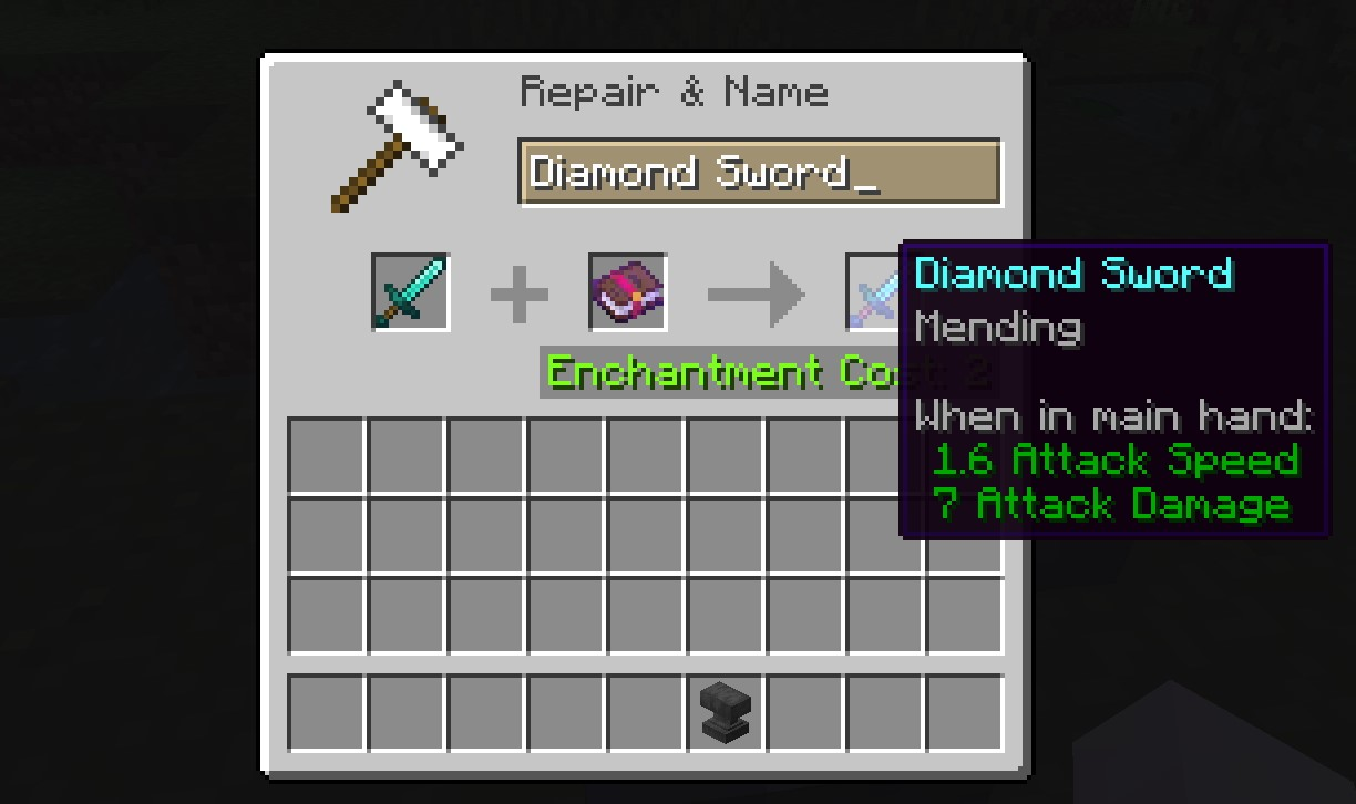 Minecraft Mending Enchantment