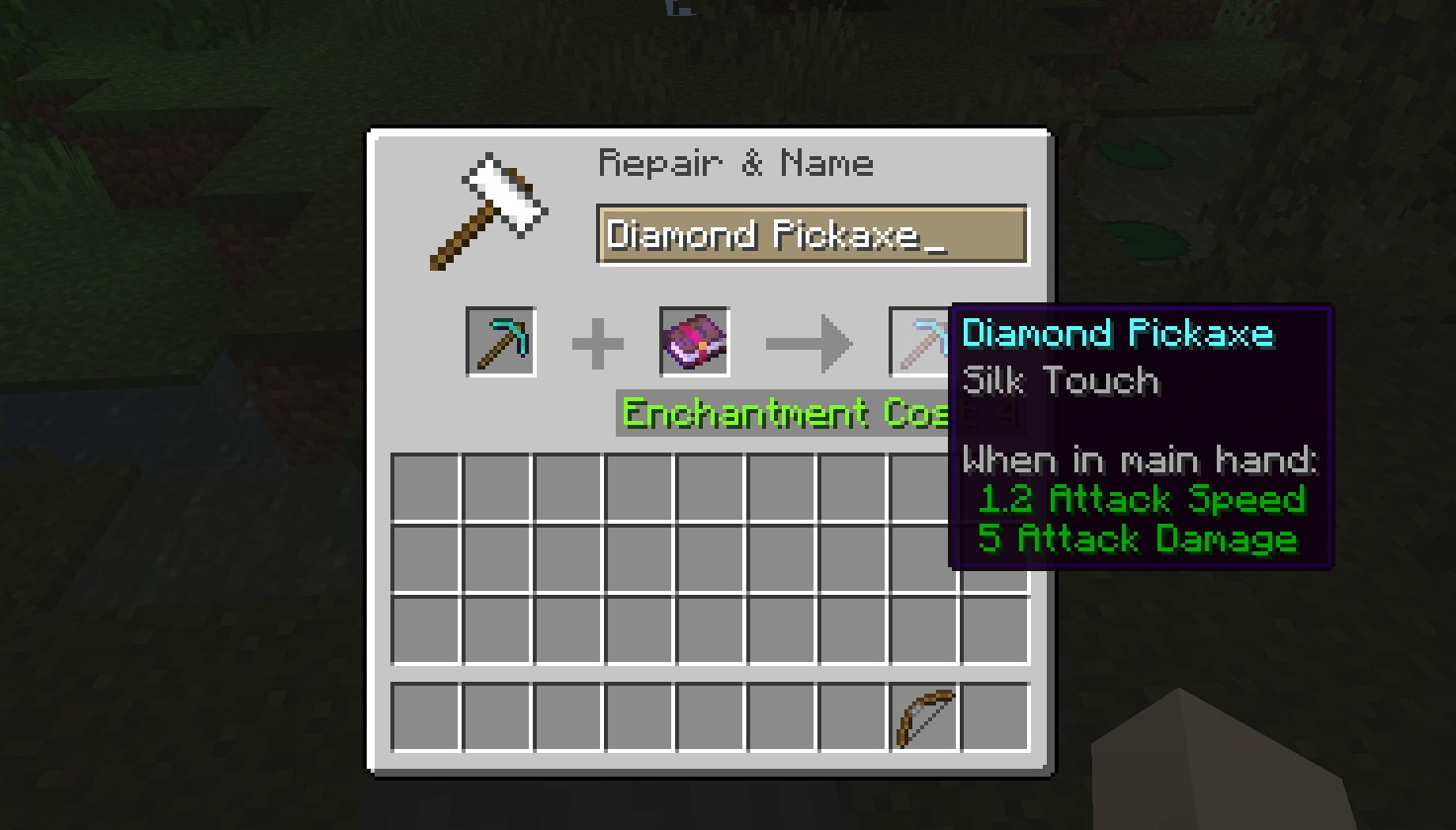 Silk Touch Enchantment in Minecraft