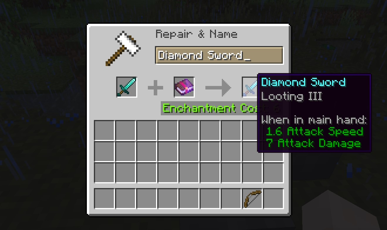 Looting Enchantment in Minecraft