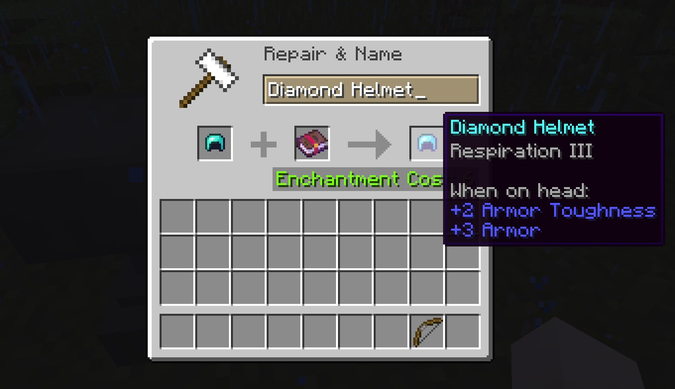 Respiration Enchantment in Minecraft