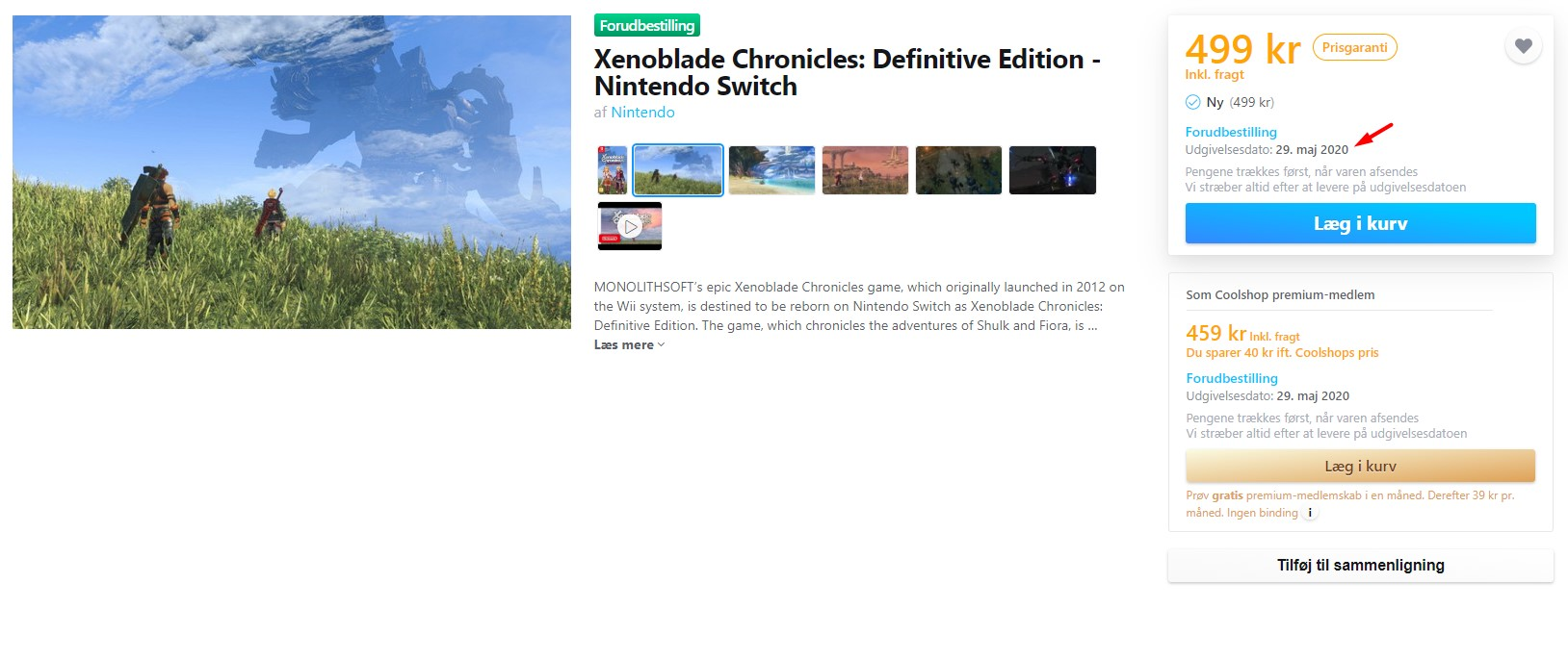 Xenoblade Chronicles: Definitive Edition Listing