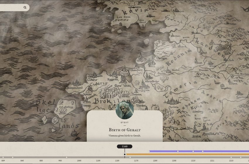 Interactive Witcher Timeline