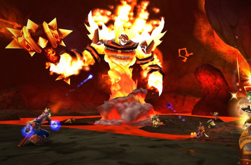World of Warcraft Ragnaros Molton Core boss