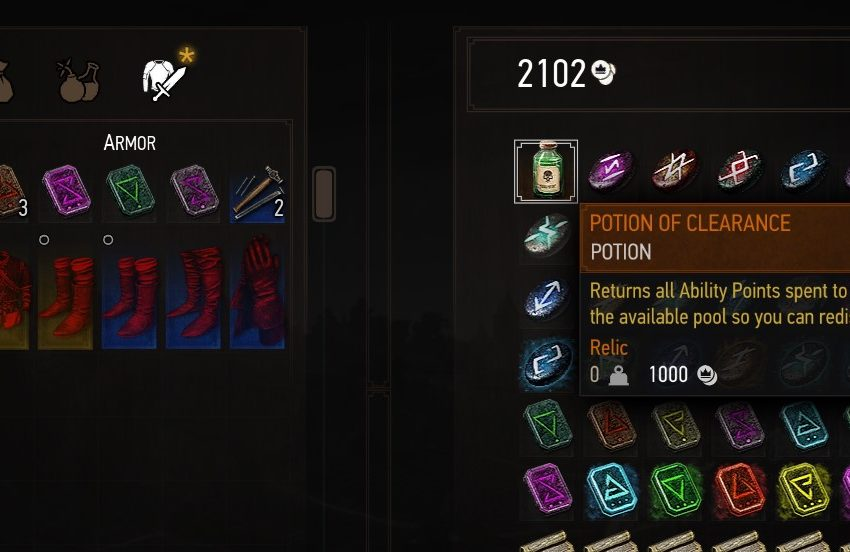 Reset Skill Points The Witcher 3: Wild Hunt