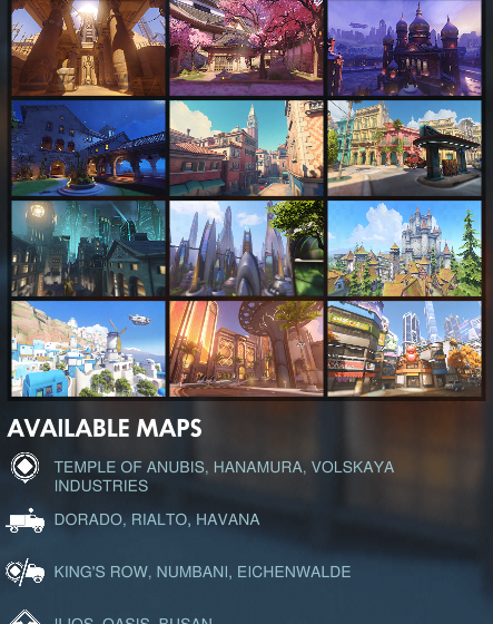 Overwatch Season 20 Map Pool