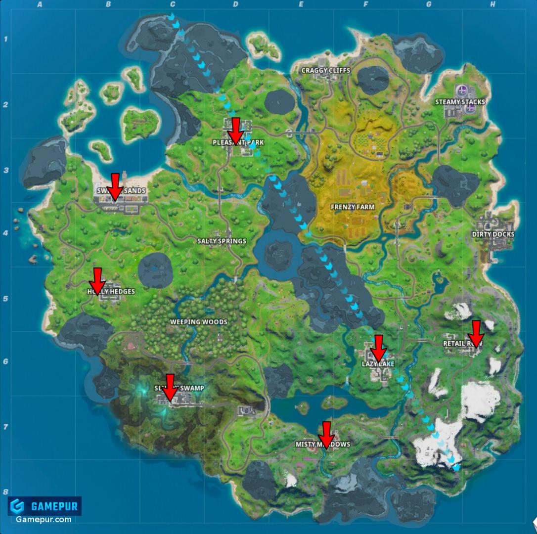Winterfest Holiday Tree Locations Fortnite