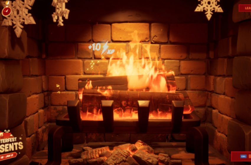 How to Complete Fortnite's Winterfest Lodge Fireplace Challenge