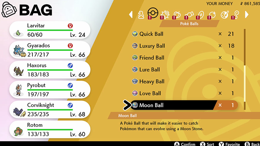 Pokémon Sword and Shield Pokéballs