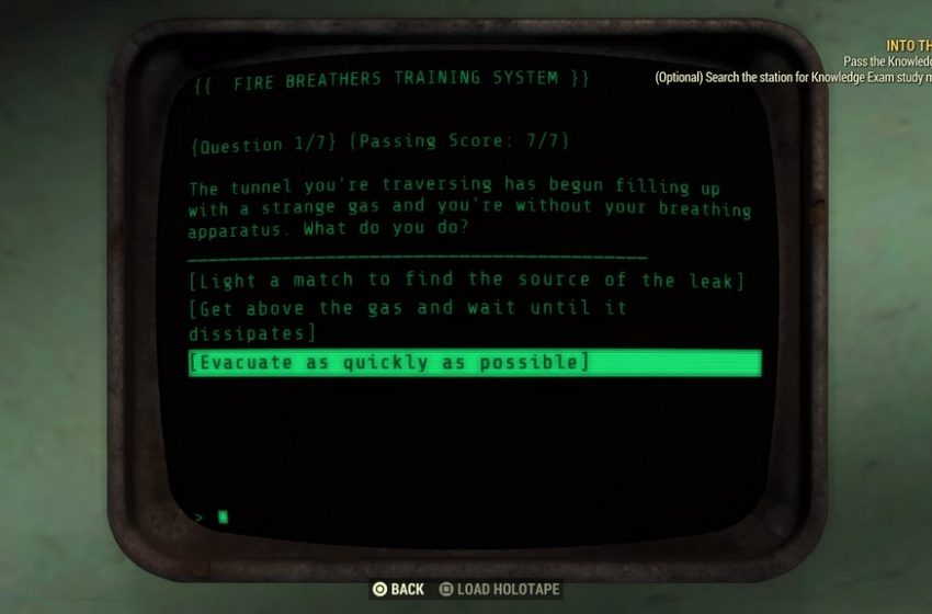 Fallout 76 Fire Breathers Exam Answers Guide