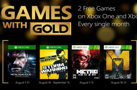 August Games With Gold To Include Metal Gear Solid V: Ground Zeroes And Metro Series