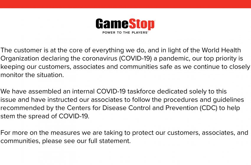 GameStop employees question decision to stay open amid COVID-19 crisis