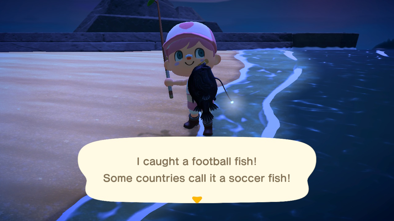 Catching a football fish