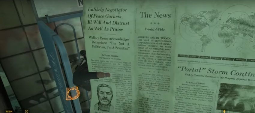 Half-Life: Alyx Easter Eggs Dr. Wallace Breen Appearances