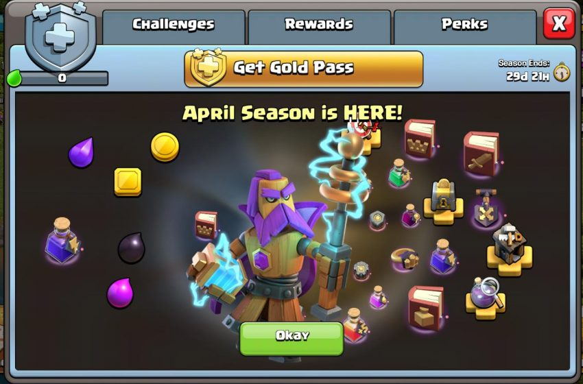 Clash of Clans April Gold Pass