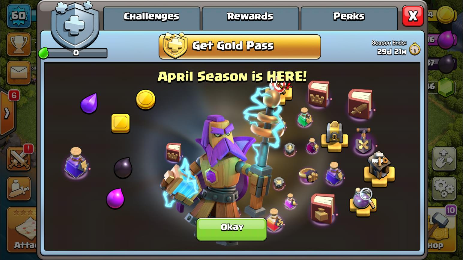 What's in the April Gold Pass in Clash of Clans?