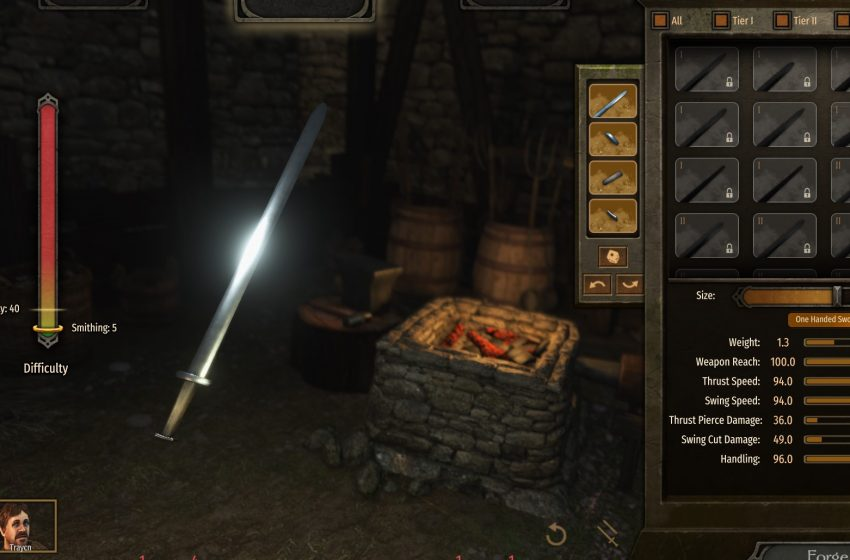 Smithing guide for Mount and Blade II: Bannerlord
