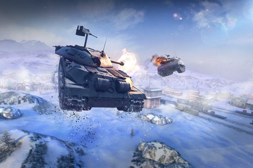 World of Tanks Blitz moon-based game mode takes tank battles to outer space