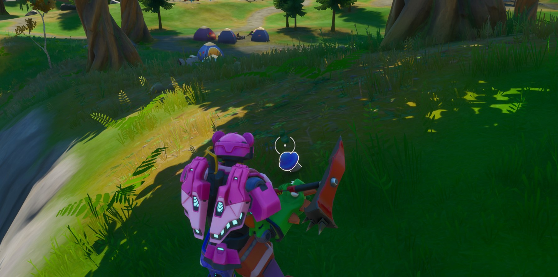 Where to stoke a Campfire, consume a Foraged Apple, consume a Foraged Mushroom in one match in Fortnite