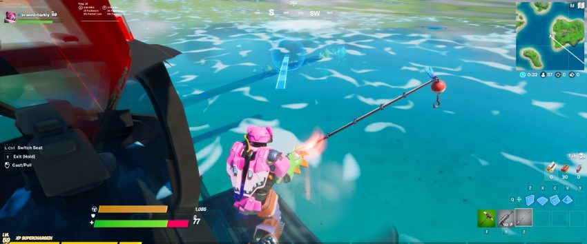How to fish from a choppa