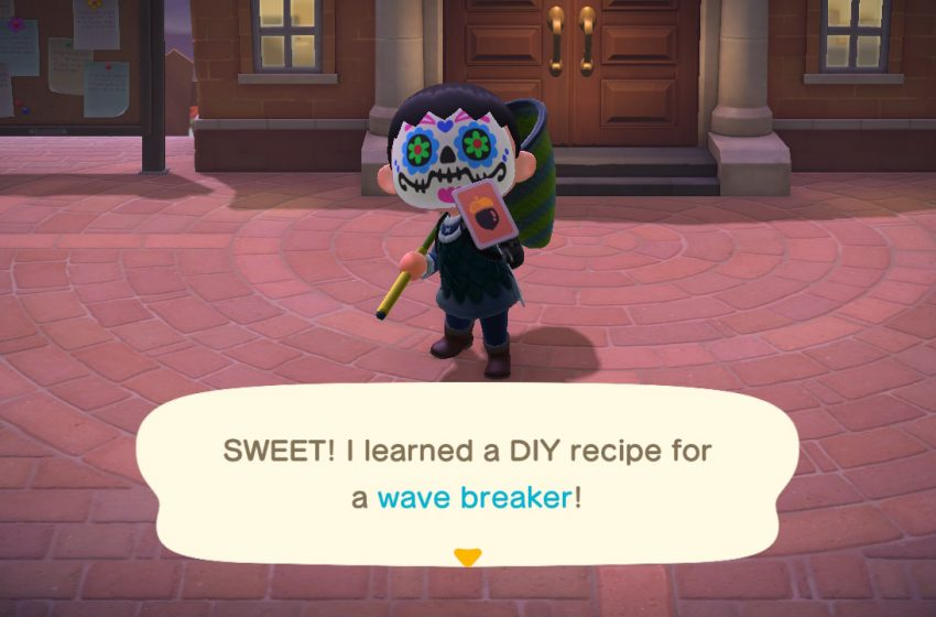 How to get and craft the wave breaker in Animal Crossing: New Horizons