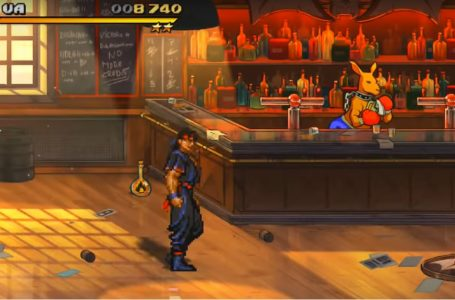Can I play as Roo in Streets of Rage 4?