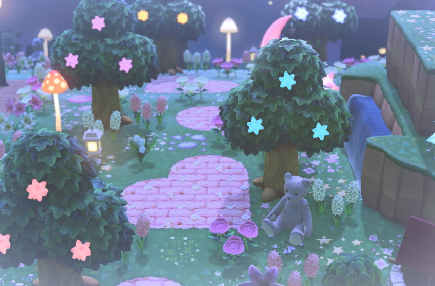 Hacker made beautiful Star Fragment trees in Animal Crossing: New Horizons