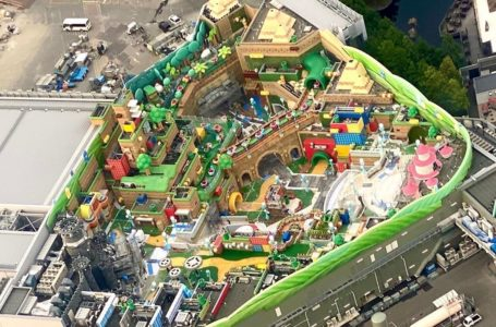 Aerial photo shows Super Mario World is almost ready to open