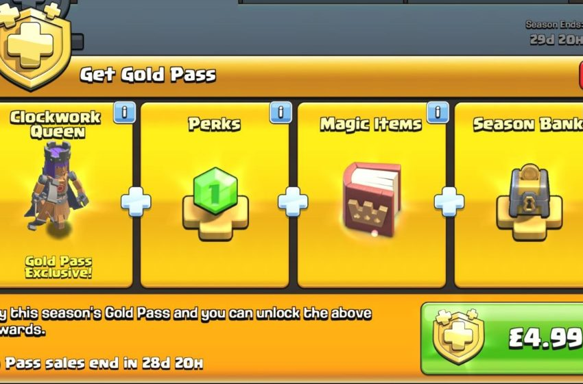 How to get the Gold Pass in Clash of Clans