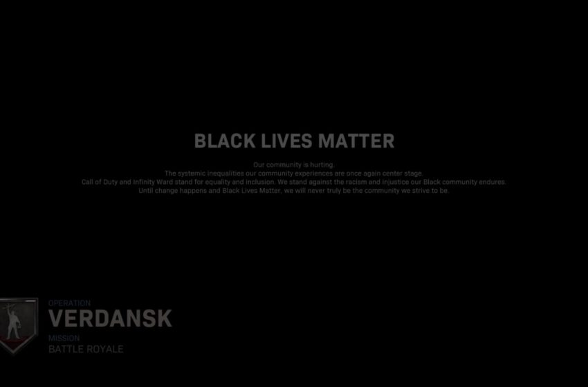 Call of Duty: Modern Warfare, Warzone add Black Lives Matter screen before matches