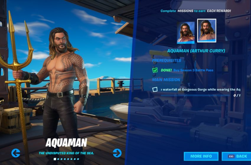 How to get the Aquaman and Arthur Curry skins in Fortnite Chapter 2 Season 3
