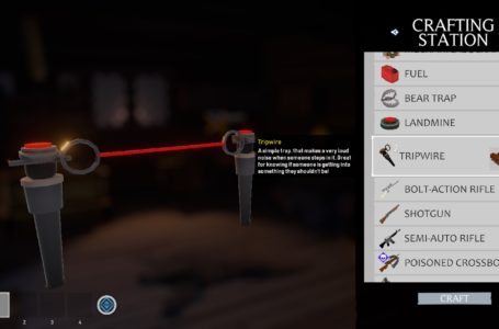 How to make and use the tripwire in Project Winter