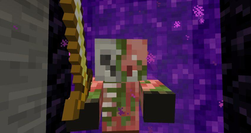 Zombie Piglin in Portal