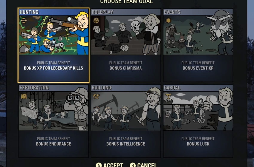 How to increase bond with Public Teams in Fallout 76