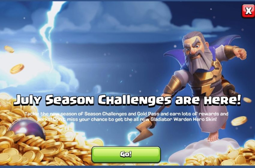 Clash of Clans July Challenges