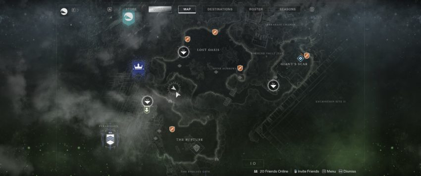 Sanctum of Bones Map