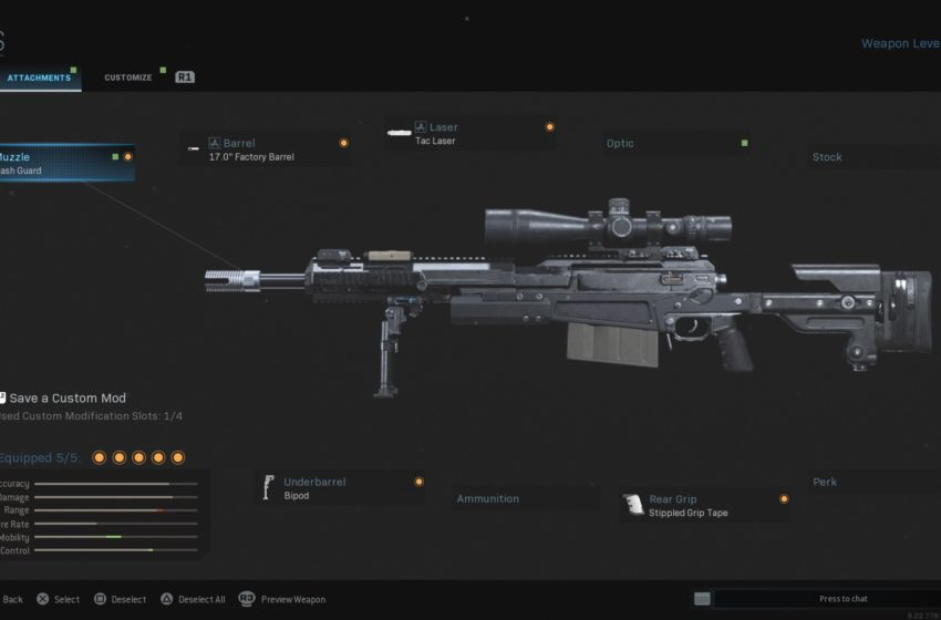 The best build for quickscoping in COD: Modern Warfare